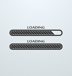 Loading uploading downloading status bar icon vector