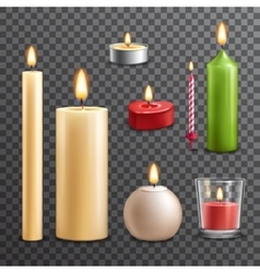 Candles transparent set vector