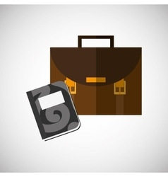 Suitcase design office icon isolated vector