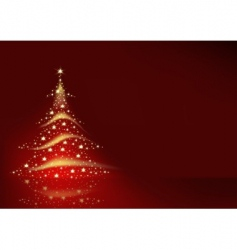 Christmas tree formed from stars vector image