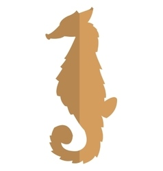 Seahorse brown silhouette icon vector