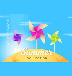 Abstract summer collection banner with vector
