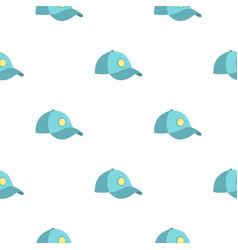 Blue baseball cap pattern seamless vector