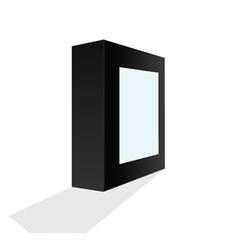 Box black vector