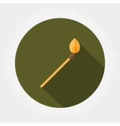 Burning lucifer match vector