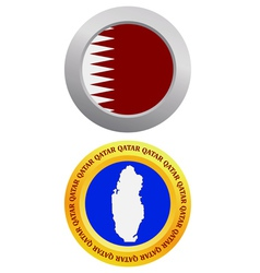 button as a symbol QATAR vector image vector image