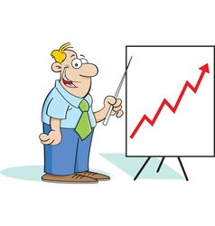 Cartoon Man with a Chart vector image vector image
