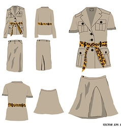 Collection of dress safari style vector image