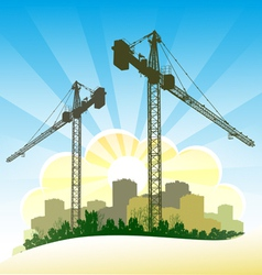 Construction banner vector image