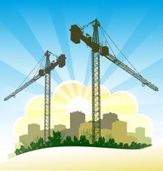 Construction banner vector