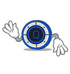Crazy qash coin mascot cartoon vector