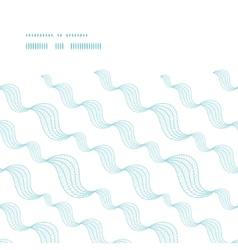 Diagonal abstract waves horizontal frame seamless vector
