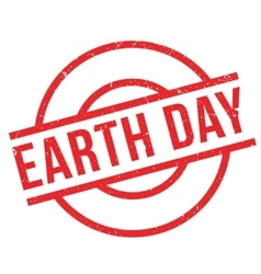 Earth day rubber stamp vector