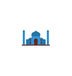flat icon taj mahal element vector image