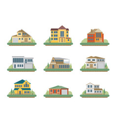 flat residential houses vector image vector image