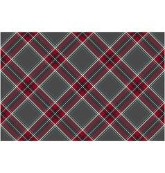 Gray red diagonal check fabric texture seamless vector