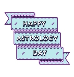 Happy astrology day greeting emblem vector