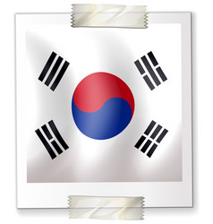 Icon design for flag of south korea vector