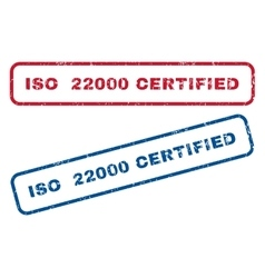 Iso 22000 certified rubber stamps vector