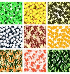 leaf tiles vector image
