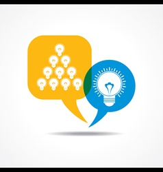light-bulbs in message bubble vector image