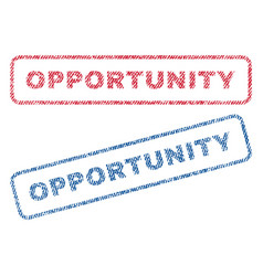 Opportunity textile stamps vector