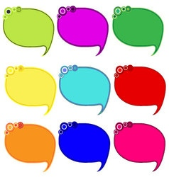 printable bubble Blank empty speech bubbles icons vector image