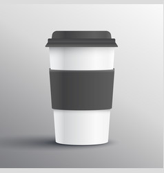 Realistic coffee mug template design object vector