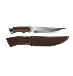 realistic hunting knife vector image vector image
