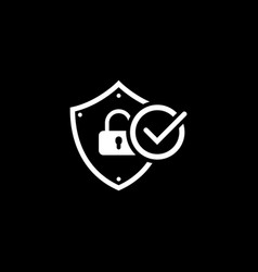 Security status icon flat design vector