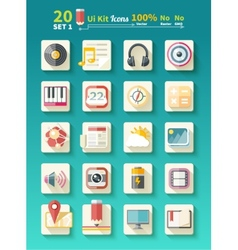 Set of icons music for app vector image