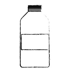 sketch bottle medicine pharmacy element vector image