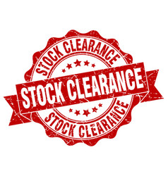 stock clearance stamp sign seal vector image