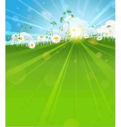 Sunny summer morning vector image