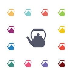 teapot flat icons set vector image