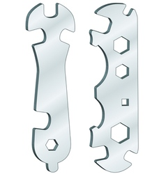 Universal wrenches vector image