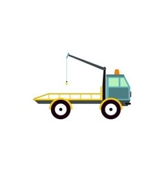 Tow truck for transportation cars icon flat style vector