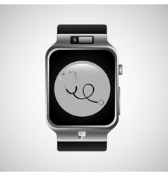 Smart watch stethoscope health technology vector