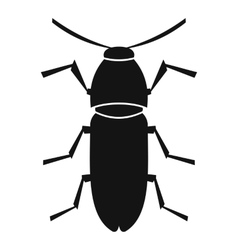 Cereal leaf beetle icon simple style vector