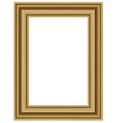 Realistic wooden frame vector