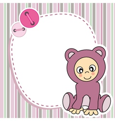 Framework for baby girl vector image