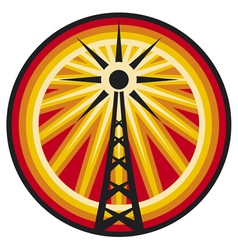 Radio antenna symbol vector