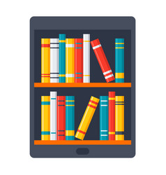 ebook icon vector image