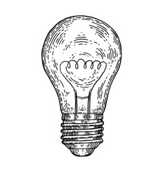 Electric lamp engraving style vector