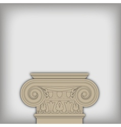 Postament from ionic capital vector