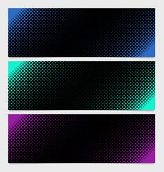 halftone square pattern banner template design vector image