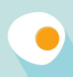 Fried egg icon vector
