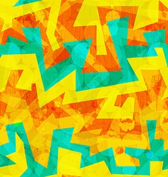 Bright yellow graffiti seamless pattern vector