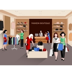 Fashion boutique vector