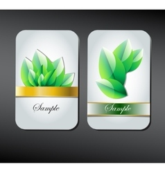 Card on green leaves texture vector